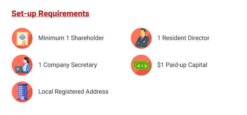 Setup requirements Singapore company