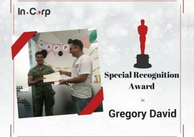 InCorp Intern Special Awardee: Gregory David