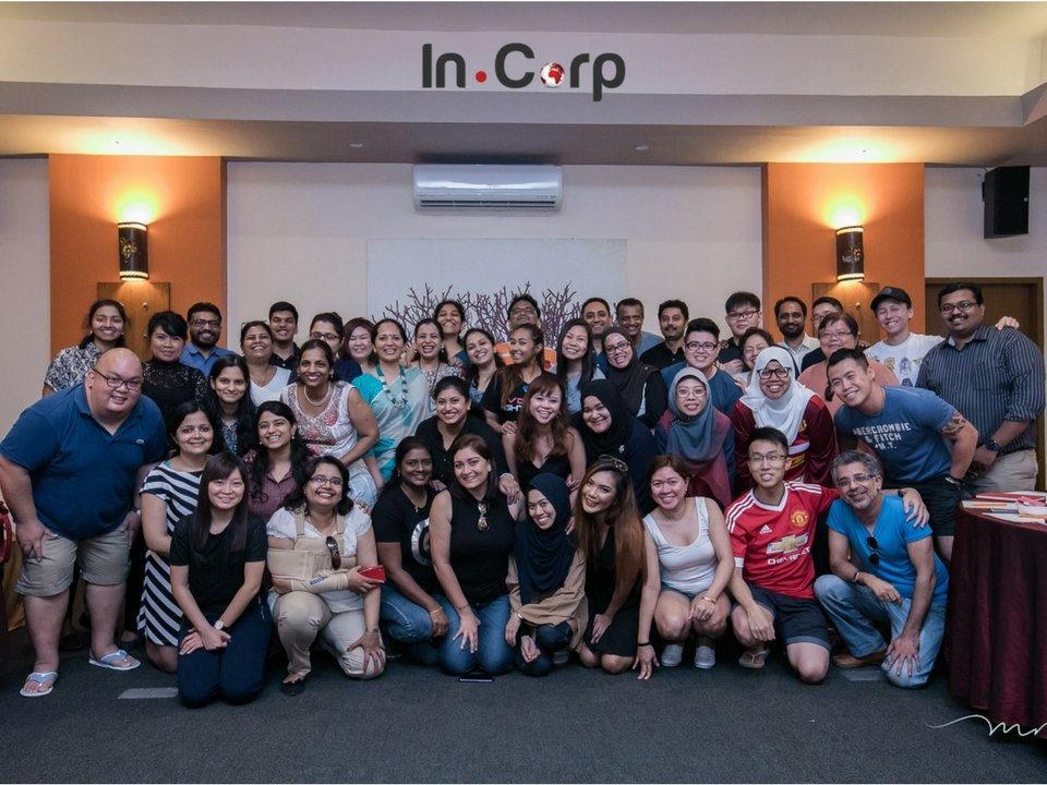 Smiling faces of Incorp employees