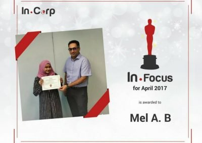 In.Focus Awardee for April: Mel A B