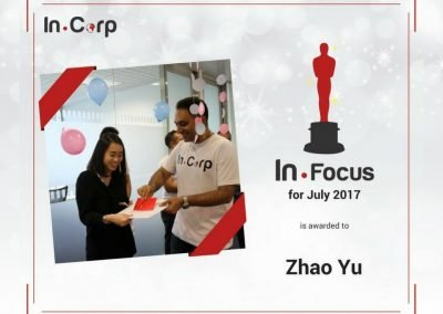 In.Focus Awardee for July: Zhao Yu