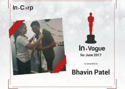 In.Vogue Awardee for June: Bhavin Patel