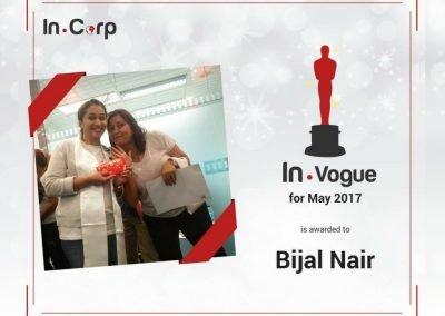 In.Vogue Awardee for May: Bijal Nair